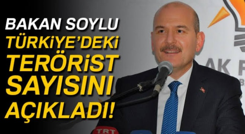 Bakan Soylu Türkiye'deki terörist sayısını açıkladı