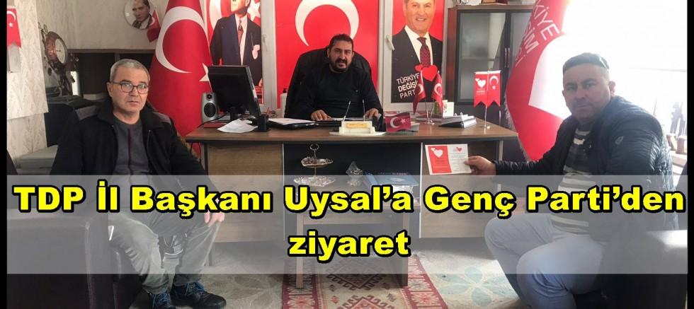 TDP İl Başkanı Uysal'a Genç Parti'den ziyaret