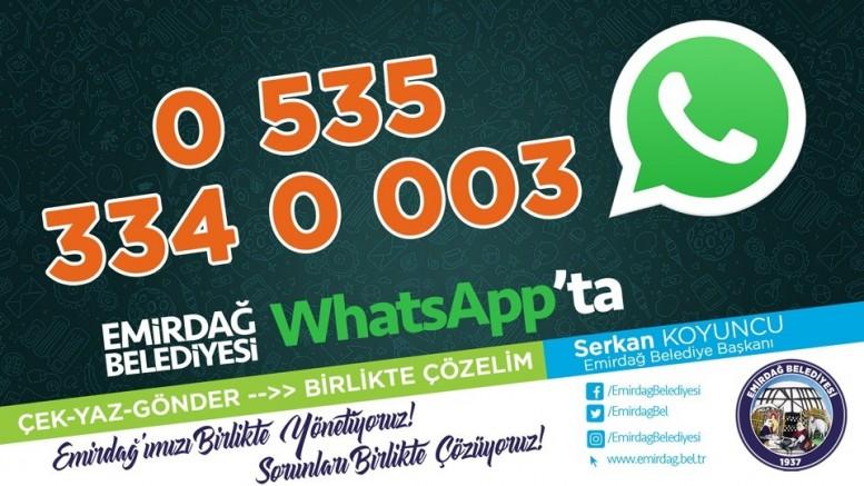 WhatsApp ihbar hattı ile sorunlar çözülüyor